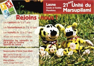 flyer 21ème de Lasne