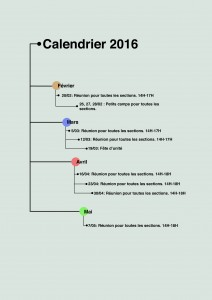 Calendrier 2016 scouts
